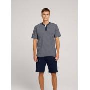 TOM TAILOR Korte gestreepte pyjama, blue-dark-horizontal stripe, 54/XL
