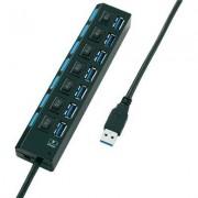 USB 3.0 HUB kapcsolható 7 részes töltő (393539)