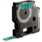 Dymo Standard D1 Tejp 9mm Svart på grönt