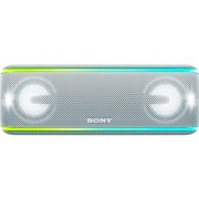 Boxa Portabila Sony SRSXB41W, EXTRA BASS, LIVE SOUND, Bluetooth, NFC, Wi-Fi, Wireless Party Chain, Party Booster, Rezistenta la apa, Efect de lumini (Alb)