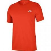 Tricou barbati Nike NSW TEE CLUB EMBRD FTRA portocaliu L