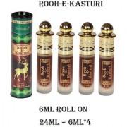 Al-Nuaim 24ML Rooh-E-Kasturi Attar 100 Percent Original And Alcohol Free Concentrated Perfume Oil Scent For Men Women