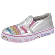 Tenisi glitter Rainbow argintiu
