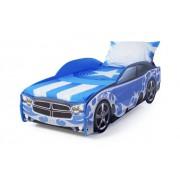 Детско легло тип кола Dodge Light в син цвят с дънно осветление
