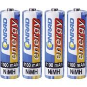 Set 4 acumulatori NiMH, AA, 1,2 V, 1100 mAh, Conrad energy