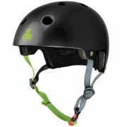 Triple Eight - Dual Certified with EPS Liner Black gloss - Helm