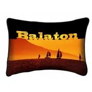 Balaton díszpárna, narancssárga vitorlás