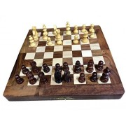 Wooden Classic Handmade Standard 12X12 inch Folding Chess Board Set, chess game board,unique chess boards,Gift for Birthday or Christmas ?