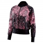 Skins Women's Activewear Interlect Bomber Jacket - Stardust - M - Black/Pink