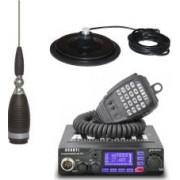 Pachet radio CB Avanti Primo PRO-Version + Antena radio CB Sirio MW 4000 + Baza magnetica 170 PL