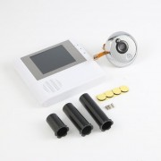ER 2.8 'LCD Digital Mirilla Puerta Visor De Ojo Timbre Video Color Camara De Infrarrojos, 806 Blanco