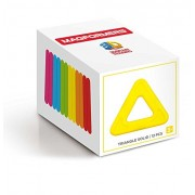 MAGFORMERS Triangle Solid (12 Piece) Building Set, Rainbow