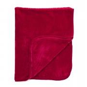 Dreamscene Luxurious Faux Fur Throw - Red - 150x200cm - Red