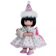 Precious Moments Dolls by The Doll Maker, Linda Rick, Birthday Wishes Brunette,12 inch Doll