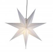 Polka dot paper star Huss 60 cm white