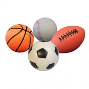 4Pcs 11cm Sports Balls Soccer Ball Basketball Playground Ball Football for Kids Children