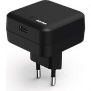 Зарядно 220V HAMA, 100-240V, 3A, 1 x USB-C, Черен