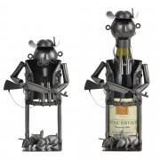 Поставка за вино [en.casa]®, Ловец, 16,5 x 15,5 x 21 cm