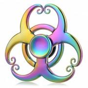 BLCR 3-Mono King's Hoops Fidget Relevo EDC Hand Spinner-multicolor