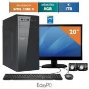 COMPUTADOR EASYPC CORE I5 8GB RAM HD 1TB WIN 10 LED 19.5