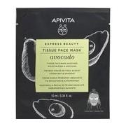 Express beauty abacate máscara tecido hidratante e suavizante 10ml - Apivita