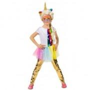 Merkloos Kinder verkleed legging goud