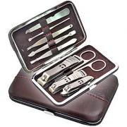 9 pcs Manicure Set Manicure Pedicure Set Nail Clippers Scissors Grooming Kit M2