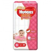 Huggies Ultra Soft Pants Diapers for Girls Small (Pack of 36)
