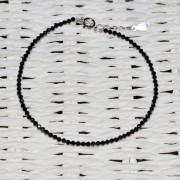 Bratara spinel negru pietre micro fatetate 2mm si argint 925