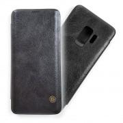 Оригинален кожен калъф на G-CASE за Samsung Galaxy S9 PLUS (S9+) (ЧЕРЕН)