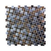 Mozaic sticlă GM K07 maro/gri/albastru 31,8x31,8 cm