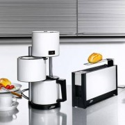 Ritter Breakfast Set by ritter, White - Toaster, Electric Kettle, Coffee Maker