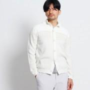 【SALE 50%OFF】タケオ キクチ TAKEO KIKUCHI トライバルスタンドカラーカーディガン (ホワイト)