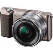 Aparat Foto Mirrorless Sony Alpha A5100 + Obiectiv cu zoom puternic 16-50mm (Maro)