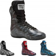 Title Boxing Predator Lightweight Mid-Length Boxing Shoes Blue/Blac...