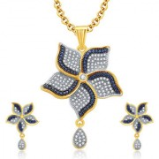Sukkhi Exceptional Gold And Rhodium Plated CZ Pendant Set For Women