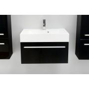 Antado Variete szafka z umywalką, wisząca 70x50x33 czarny połysk 658523/617216
