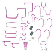 Stalwart 75-ST6030 Hang it Yourself Home Garage Wall Hook Kit, Hot Pink, 30 Pieces