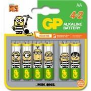 Gp Batteries Blister 4+2 Batterie Alcaline AA Stilo GP Minions