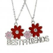 Set 2 Lantisoare Cu Pandantive Best Friends BFF Floricele