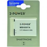 2-Power Batterie GT-S5838 (Samsung,Argenté)
