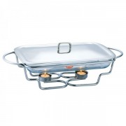 Vas cald dish Sticla Termorezistenta 2 lumanari 3.4L Peterhof PH16108