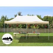 3x6m összecsukható pavilon Bézs (Normál kivitelű Pop-Up sátor)