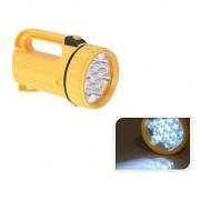 Geen Gele LED zaklamp 20 cm