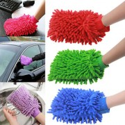 Evershine Set On 3 Microfiber Cleaning Gloves Hand Duster For Car and Bikes