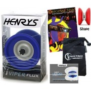 Henrys VIPER FLUX Pro YoYo (Blue) Professional Off String (4A) Bearing YoYo +Instructional Booklet of Tricks + Original Spin YoYo Tricks DVD (75 Tricks to Learn!) & Travel Bag! Top Of The Range YoYo! Pro YoYos For Kids and Adults!