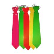Pacote Com 100 Gravatas Holográficas Coloridas