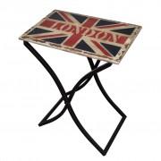 vidaXL Salontafel met Union Jack-ontwerp hout