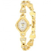 Evelyn Stainless Steel Gold Plated Wrist Watch for Women-EVE-541