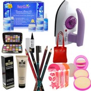 Lady Collection Beauty Combo Makeup Sets With Iron and Diamond Facial Kit